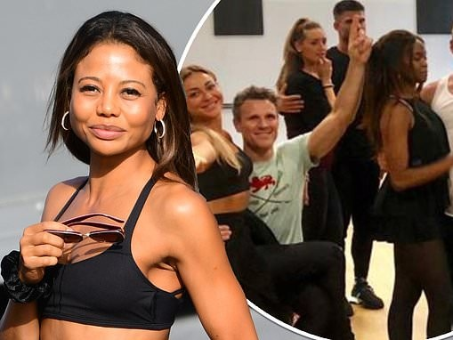 Strictly's Emma Weymouth flaunts her svelte figure arriving to rehearsals