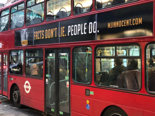Posters Proclaiming Michael Jackson's Innocence to Be Removed From London Buses