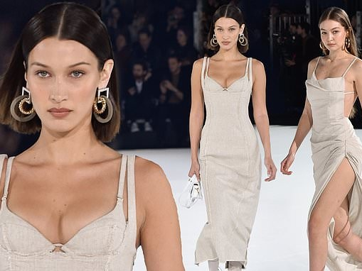 Bella and Gigi Hadid look sensational as they rock the runway during the Jacquemus Menswear PFW show