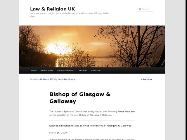 Bishop of Glasgow & Galloway