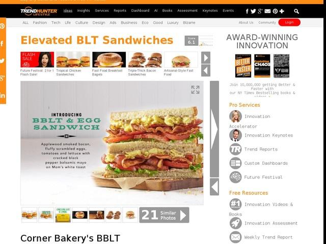 Elevated BLT Sandwiches - Corner Bakery's BBLT & Egg Sandwich Takes Breakfast to the Next Level (TrendHunter.com)