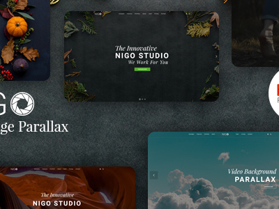 Nigo Creative Parallax One Page Html Template Corporate Other
