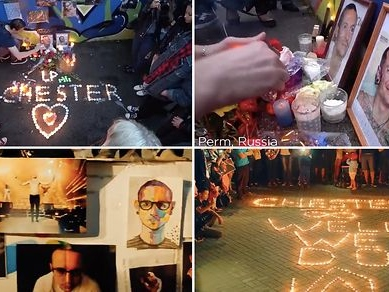 Watch This Touching Video of Chester Bennington Tributes From Around the World