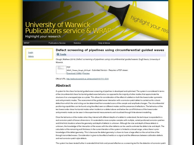 Defect screening of pipelines using circumferential guided waves