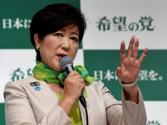 Japan's Koike: Media-savvy operator with stomach for a fight