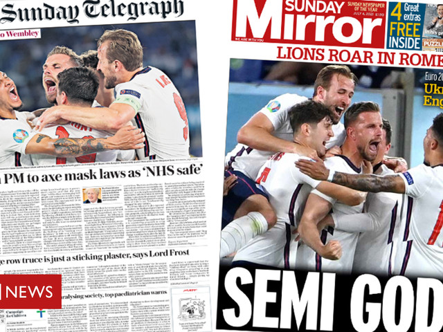 Newspaper headlines: Mask laws 'to be axed', and 'Lions roar in Rome'