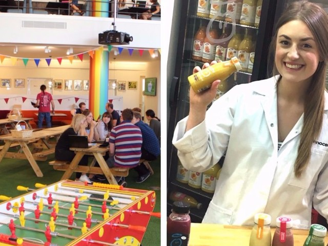 This is what it's like to be a 'smoothie sommelier' at Innocent's Fruit Towers, voted one of London's 5 coolest offices