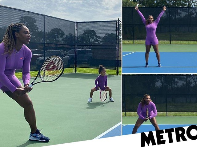 Serena Williams' daughter Olympia, 2, ready to be a tennis champ in world's cutest photoshoot