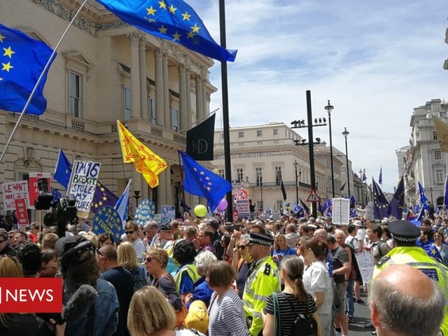 Labour frontbenchers defend no show at anti-Brexit march
