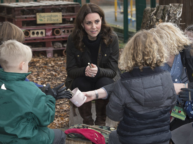 Kate Middleton Returns From Maternity Leave With A Visit To A Forest School
