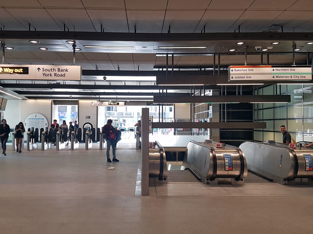 Waterloo tube station reopens its Southbank entrance