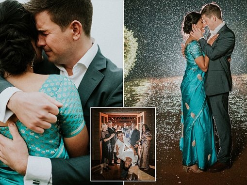 Pictured: Groom overcome with emotion on his wedding day