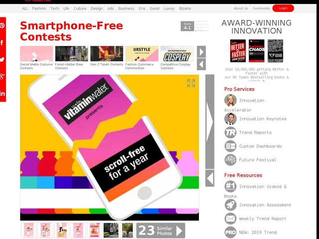 Smartphone-Free Contests - Vitaminwater is Offering $100,000 in a Digital Detox Contest (TrendHunter.com)