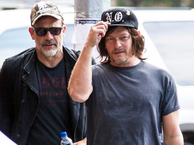 Norman Reedus Meets Up With Jeffrey Dean Morgan Before NYCC Event