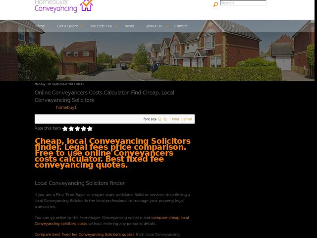 Online Conveyancers Costs Calculator. Find Cheap, Local Conveyancing Solicitors