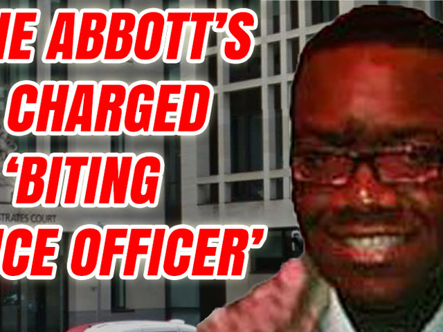 """James Abbott Charged Over """"Biting a Police Officer"""""""