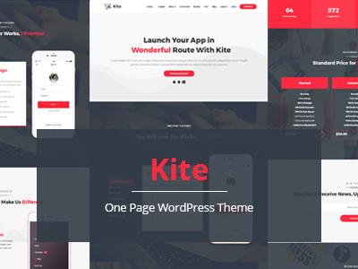 Kite - Multipurpose One Page WordPress Theme (Corporate)