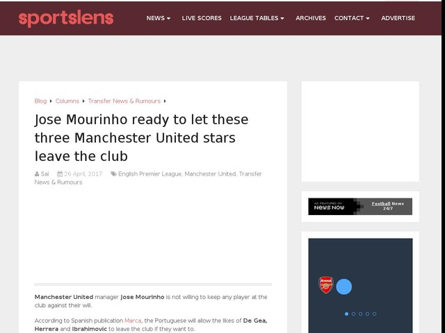 Mourinho has informed these 3 top class Man Utd stars that they can leave for the right price