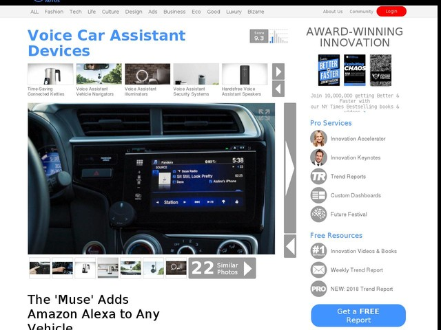 Voice Car Assistant Devices - The 'Muse' Adds Amazon Alexa to Any Vehicle (TrendHunter.com)