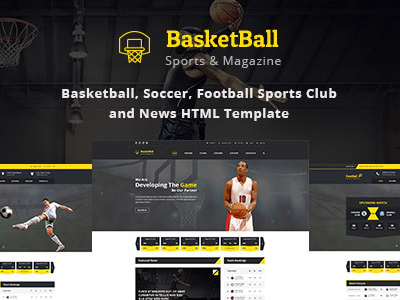 SportsMagazine Basketball, Soccer, Football Sports Club and News HTML Template (Nonprofit)