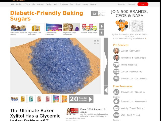 Diabetic-Friendly Baking Sugars - The Ultimate Baker Xylitol Has a Glycemic Index Rating of 7 (TrendHunter.com)