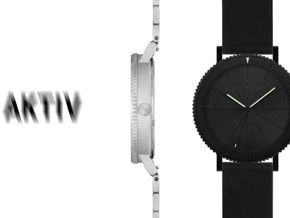 Modern Minimalist Dive Watches - The Aktiv Dive Watch is Defined by Its Sleek Ultra-Slim Design (TrendHunter.com)