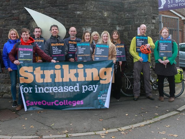 Teachers strike at sixth form college amid demands for more pay