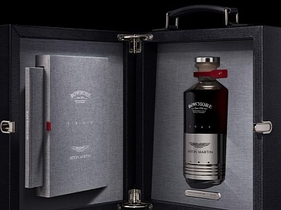 Aston Martin Class in a Glass: Black Bowmore DB5 1964 Blends Whisky and Piston