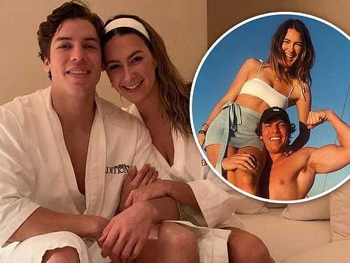 Arnold Schwarzenegger's son Joseph Baena celebrates one-year anniversary with girlfriend Nicky Dodaj