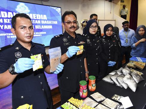 S'gor police cripple three NPS drug-trafficking syndicates