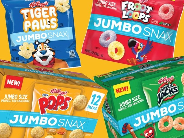 Extra-Large Snack Packs - Kellogg's New Jumbo Snax are Perfect for Those with Big Appetites (TrendHunter.com)