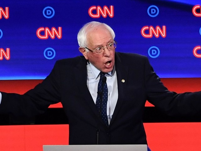 One stat explains why Bernie Sanders had to spend the entire debate fending off low-polling rivals