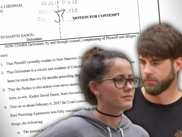 Contempt Of Court! Jenelle Evans' Hubby Files Shock Docs Against His Other Baby Mama