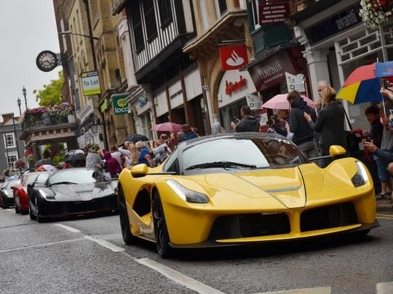 GALLERY: Huge Ferrari parade travels through high street