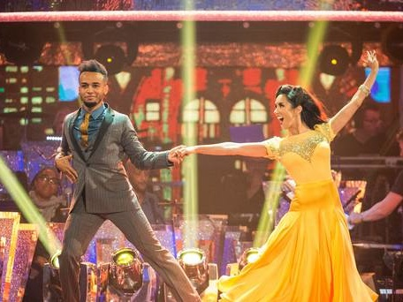 Aston Merrygold stakes early claim to the glitter ball trophy on Strictly