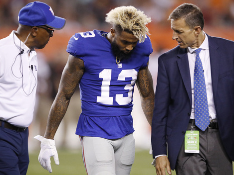 Giants Appear To Dodge Major Bullet With Beckham Injury