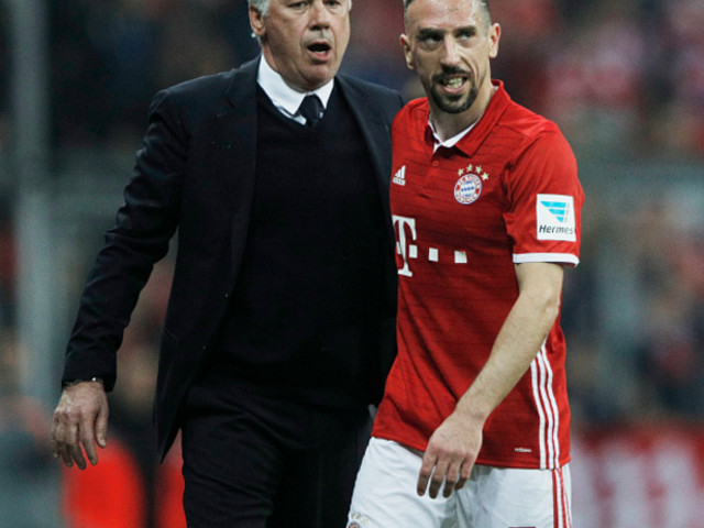Bayern Munich: Carlo Ancelotti Puts Abrupt End To Franck Ribery Substitution Sulk With Tender Kiss And Cuddle (Video)