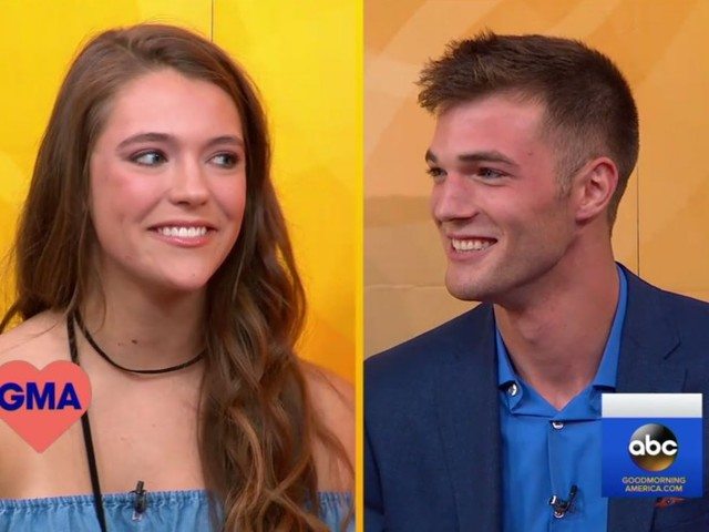 Tinder couple meet on Good Morning America after 3 years of messaging