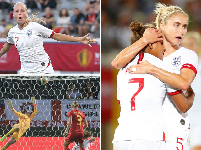 England struggle again but fight back for draw as Phil Neville's Lionesses blow two-goal lead against Belgium