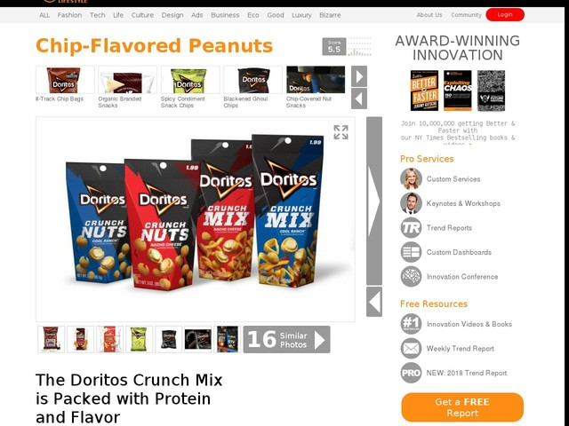 Chip-Flavored Peanuts - The Doritos Crunch Mix is Packed with Protein and Flavor (TrendHunter.com)
