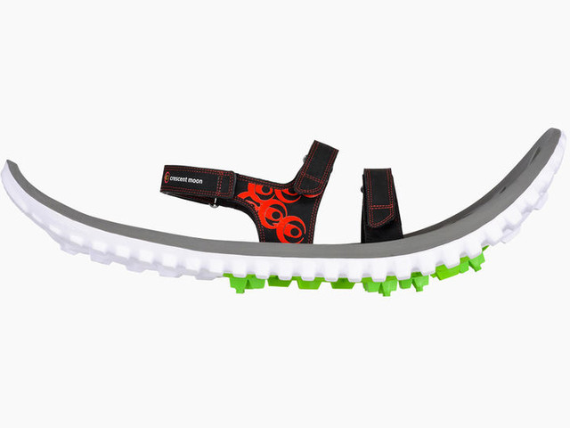 Biodegradable Eco Foam Snowshoes - These Crescent Moon Snowshoes are Sustainably Crafted (TrendHunter.com)