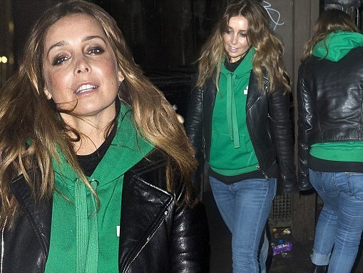 Louise Redknapp looks relaxed and happy in Glasgow