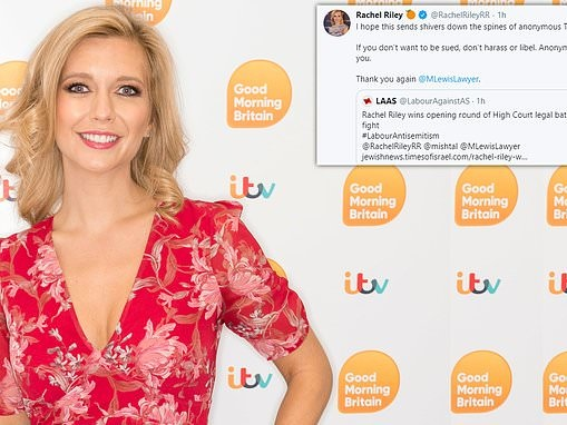 Rachel Riley sends warning to Twitter trolls after winning first round of legal fight with barrister