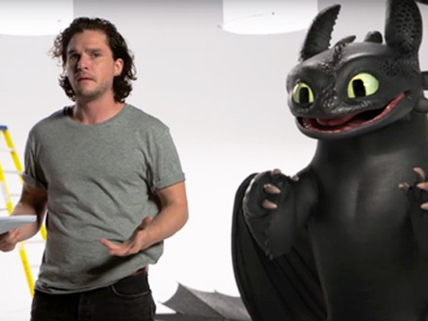 Kit Harington Gets Knocked Down By Toothless The Dragon In This Adorable 'Game Of Thrones' Crossover