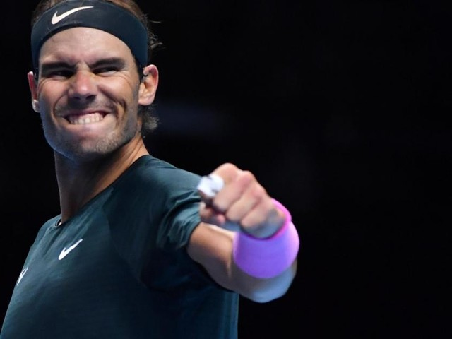 Nadal beats Tsitsipas to reach last four at ATP Finals