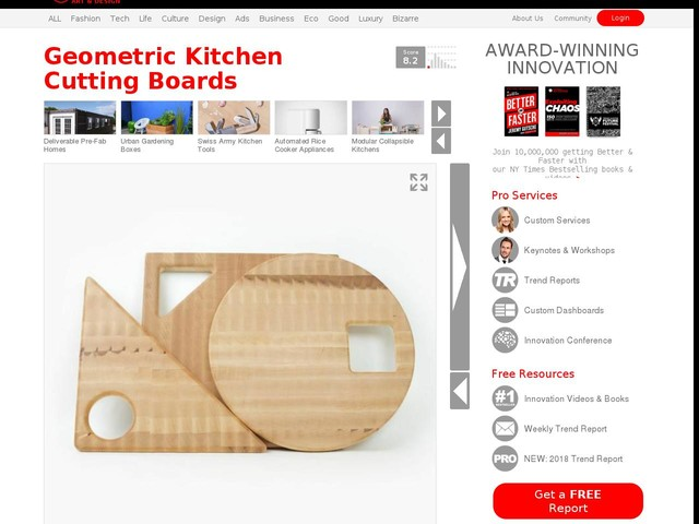 Geometric Kitchen Cutting Boards - Multiply's Geometric Butcher Set Spruces Up the Kitchen (TrendHunter.com)