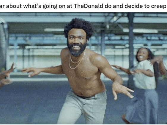 Donald Glover fans have staged a takeover of a pro-Trump subreddit