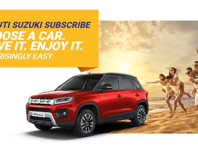 Maruti Suzuki Launches Car Subscription Service In Delhi-NCR & Bengaluru