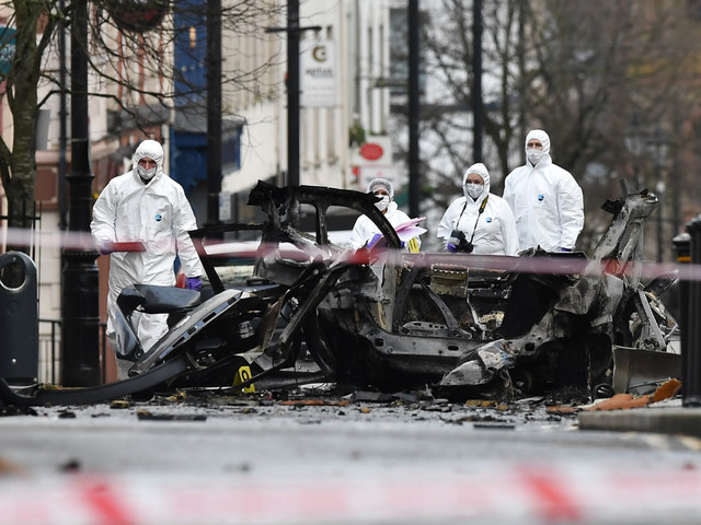 New IRA blamed for Londonderry car bomb