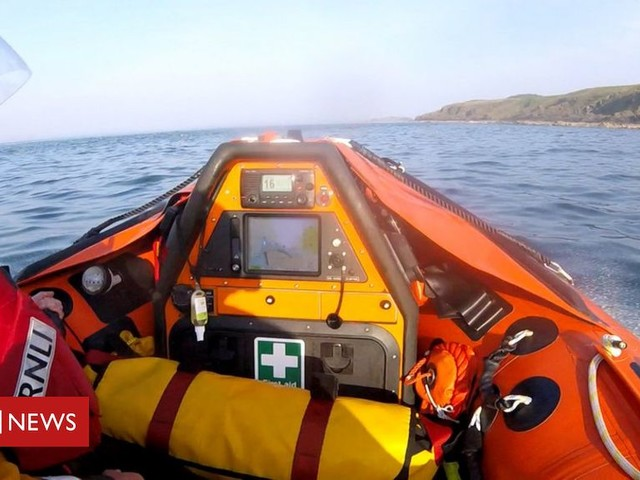 Muck Island: Kayakers rescued by RNLI near Islandmagee